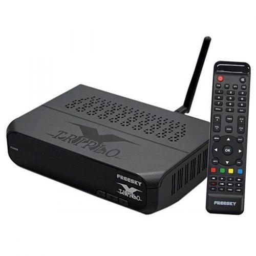 Receptor Freesky Triplo X ACM Wi-Fi HDMI USB IPTV ACM IKS SKS